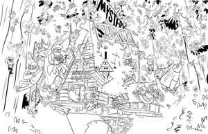 Gravity Falls Lineart by matthewethan
