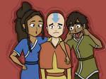 Kya, Bumi and Tenzin.