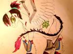 Mourning Star pony on my second style by DragonPinkiePie