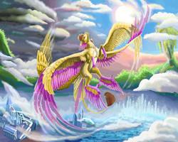 into heaven by DragonPinkiePie