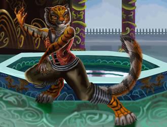 Kungfu Tigress by DragonPinkiePie