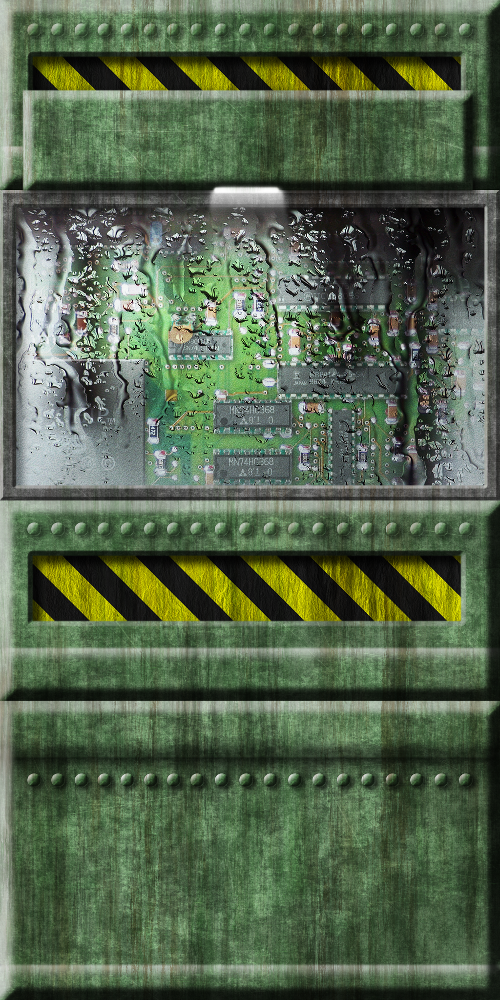Green Tech Wall 01 by Hoover1979