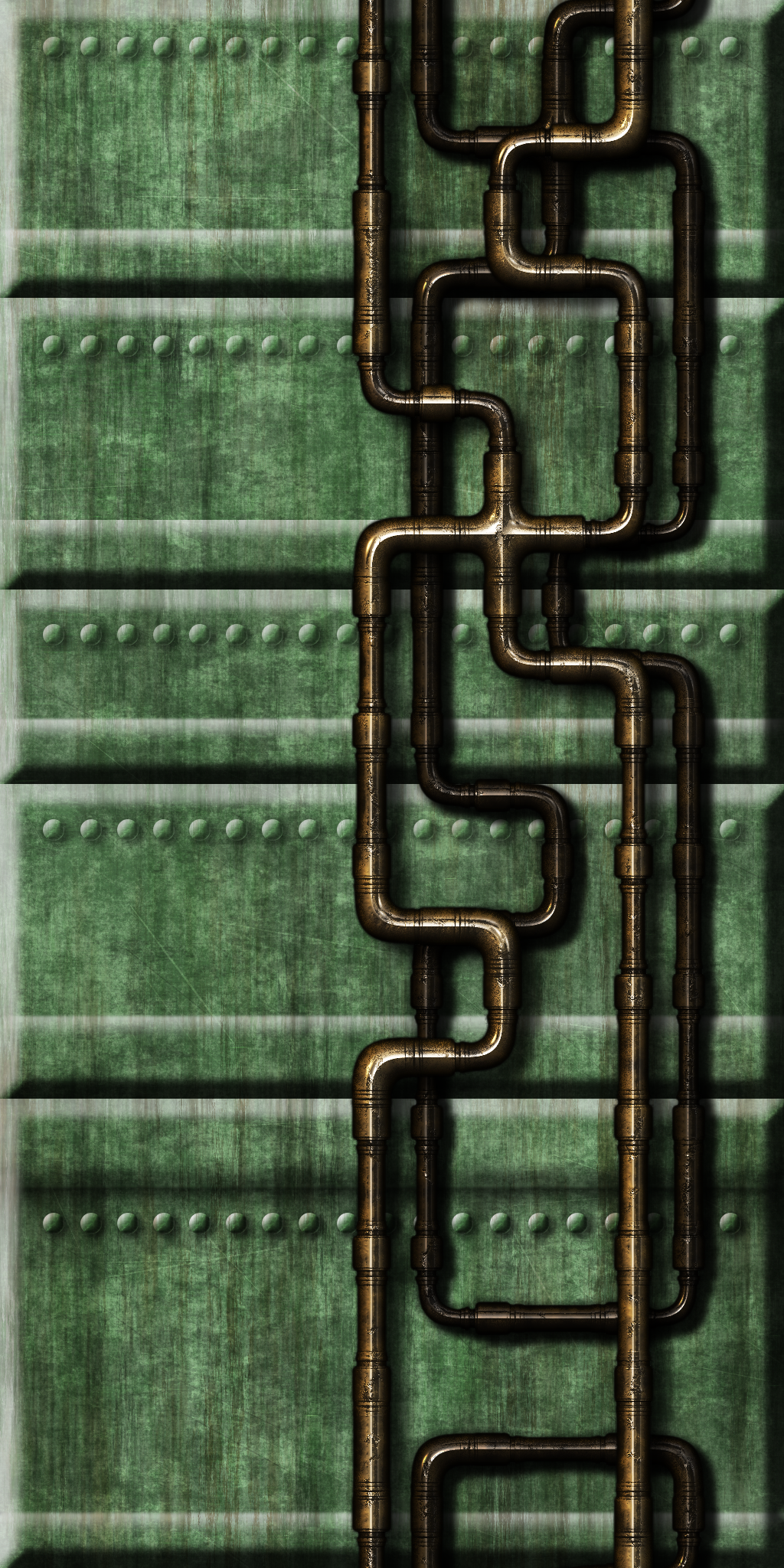 Green Tech Wall 04 by Hoover1979