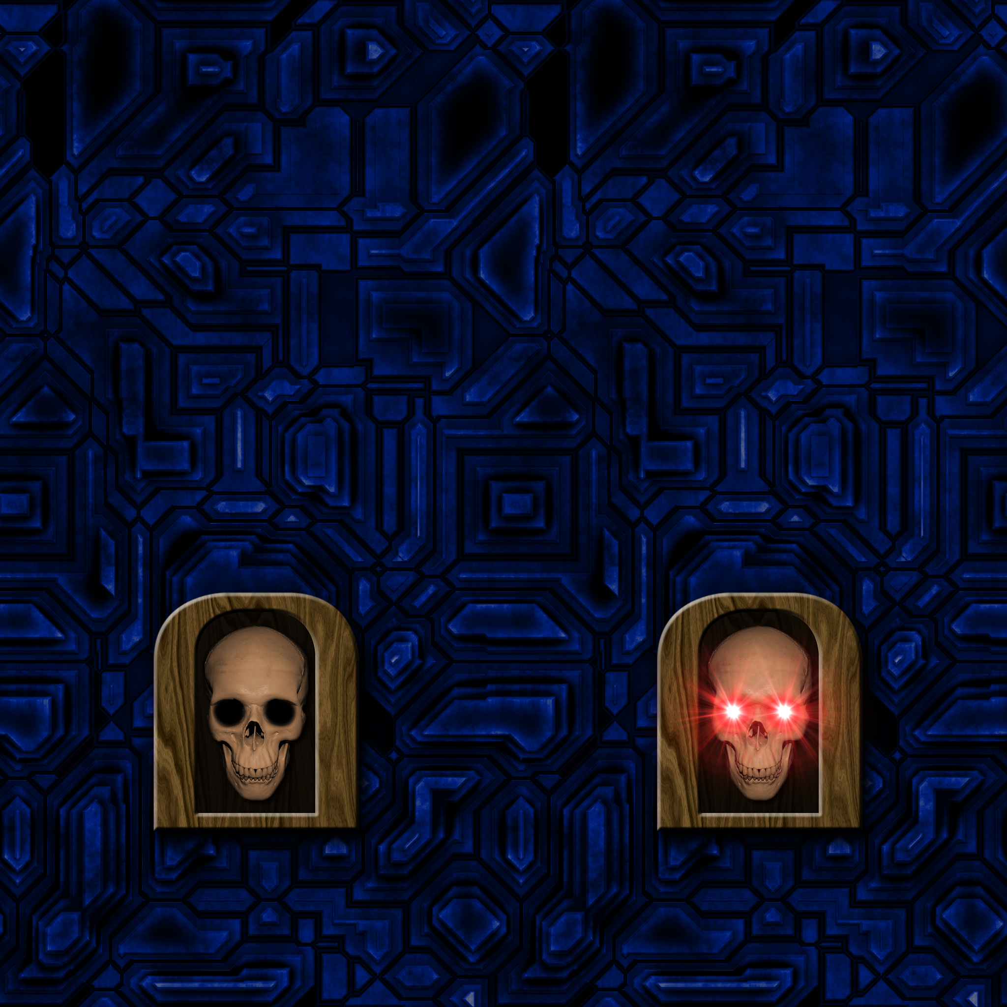 Blue Wall with Skull Switch by Hoover1979
