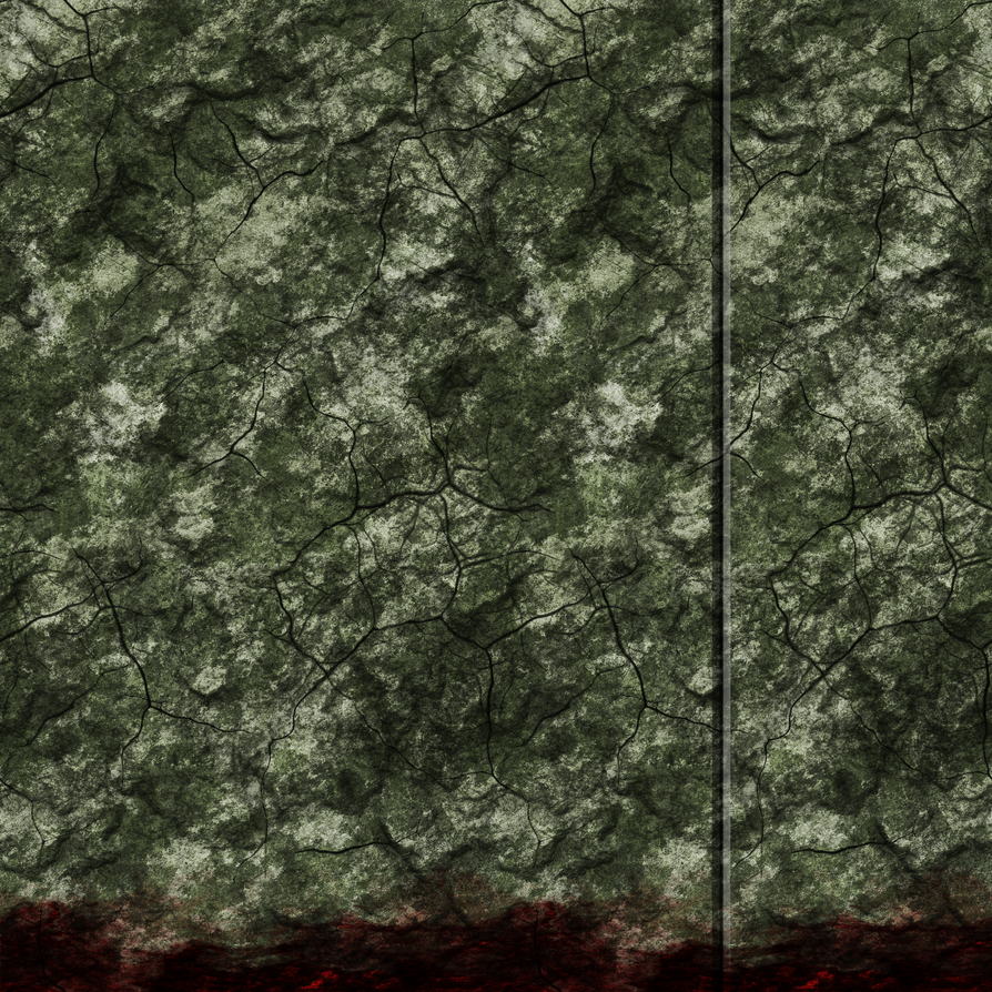 Green Stone wall 01 with Blood Remake by Hoover1979