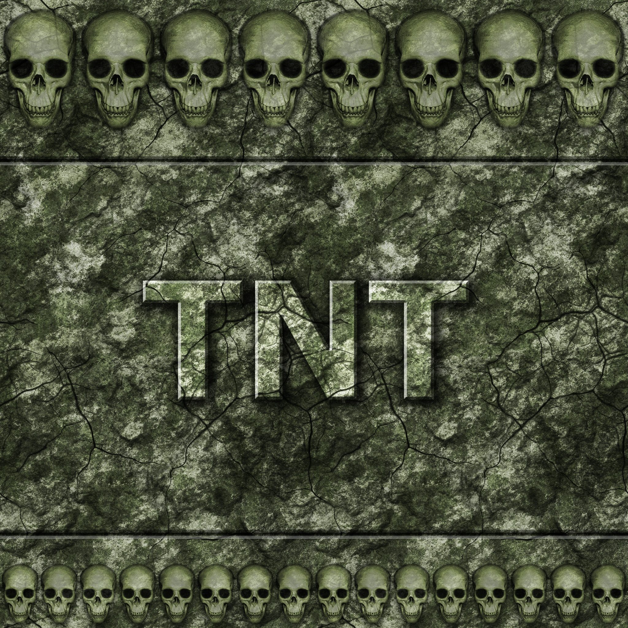 Green Stone Wall with Skulls withTeam TNT branding by Hoover1979