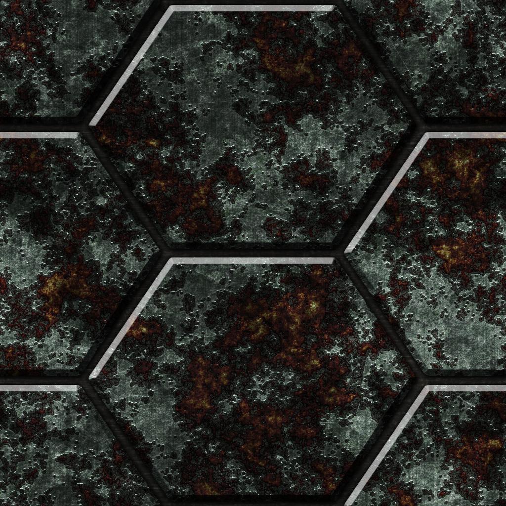 Hexagonal Metal Tiles 02 Remake by Hoover1979