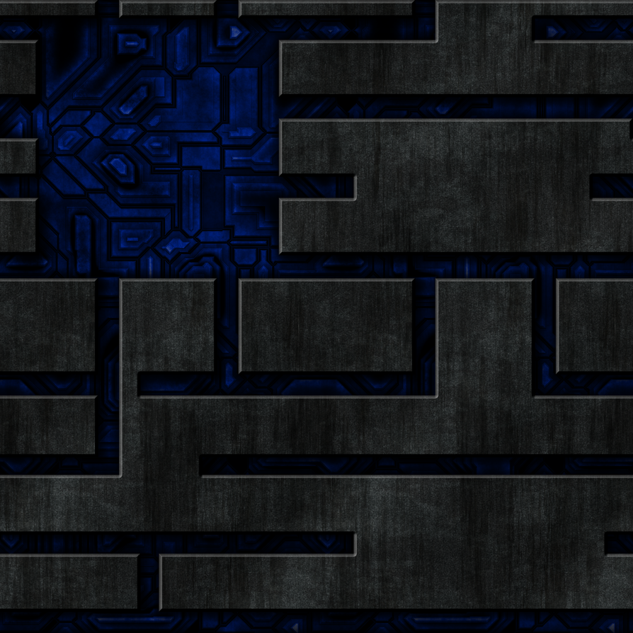 Blue Tech Wall with Grey Overlay by Hoover1979