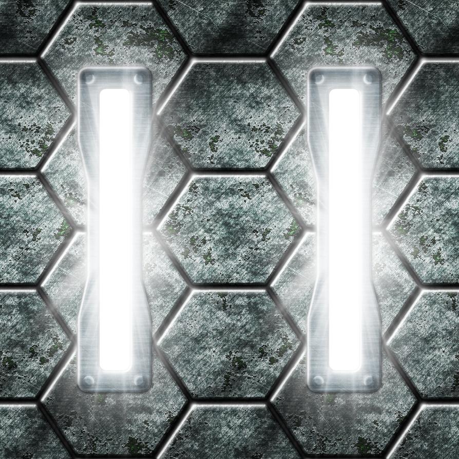 Hexagonal Metal Lights Alternate Version by Hoover1979