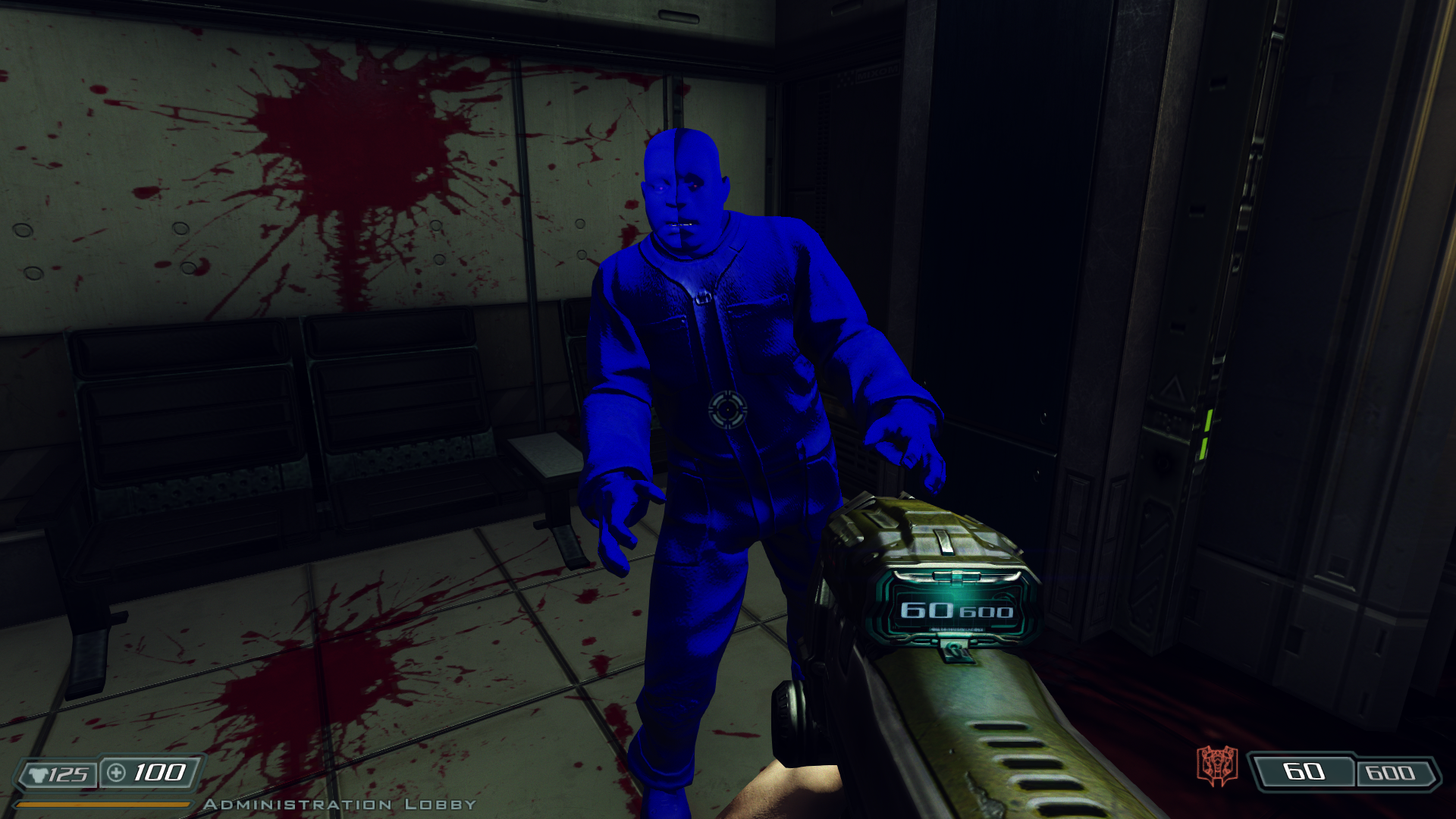 Completely Blue glitch in Doom 3 BFG Mod by Hoover1979