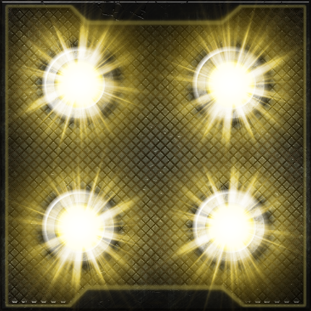 Metal Ceiling Panel with Yellow Lights by Hoover1979