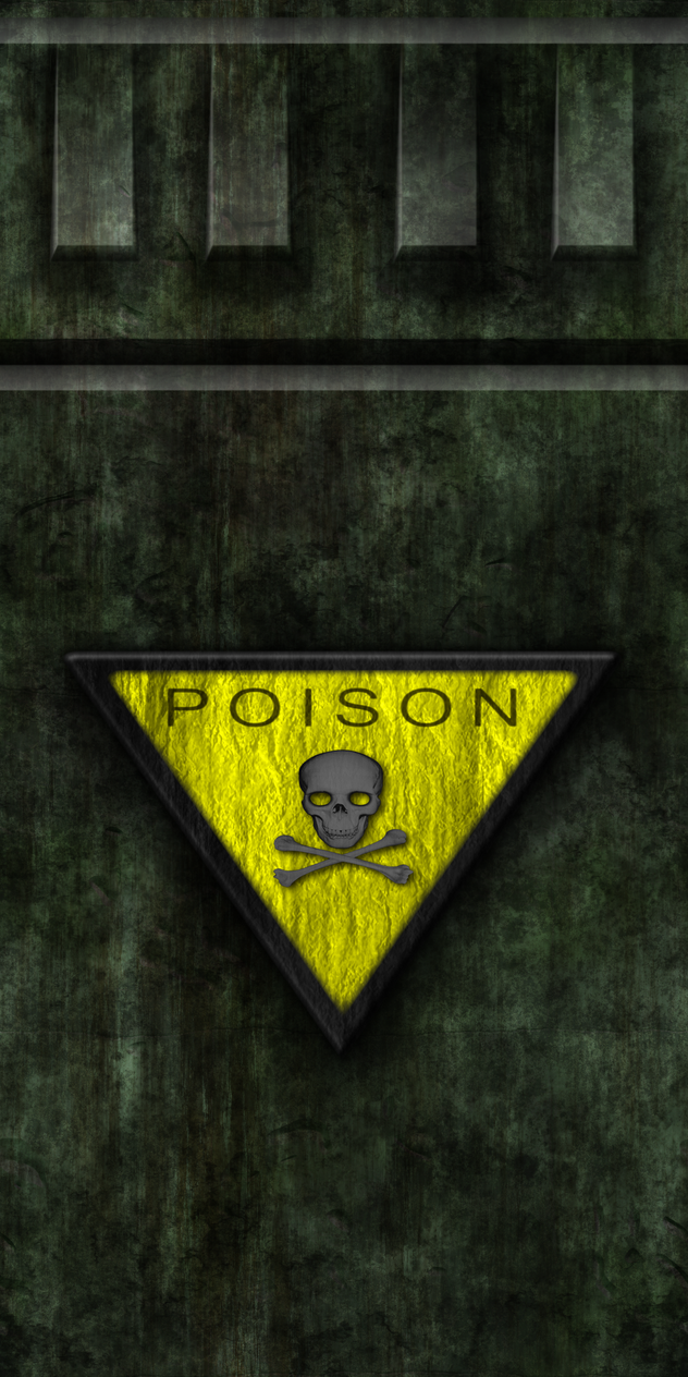 Green Cement Wall with Poison Sign by Hoover1979