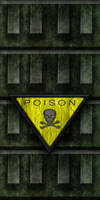 Green Cement Wall with Poison Sign 02