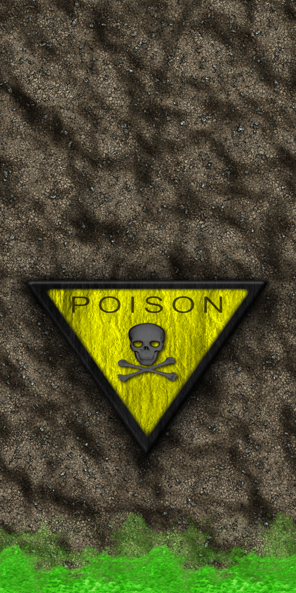 Dirt Wall with Nukage and Poison Sign by Hoover1979