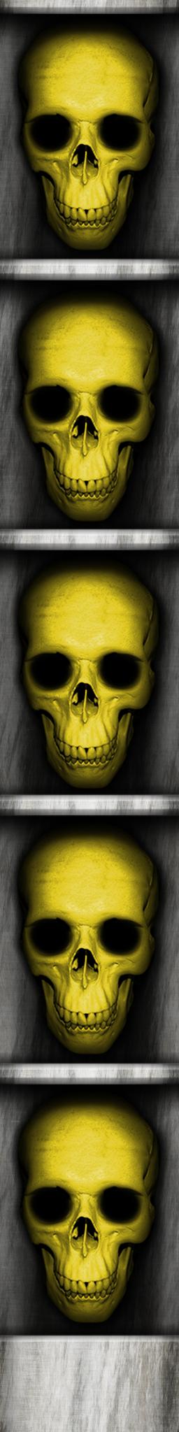 Yellow Skull Key Door Edge by Hoover1979