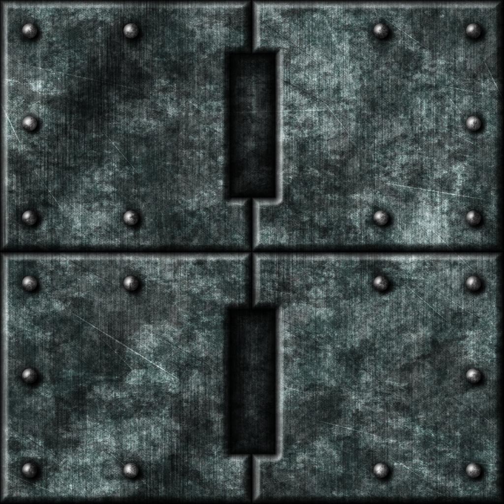 Grey Metal Tiles 01 by Hoover1979