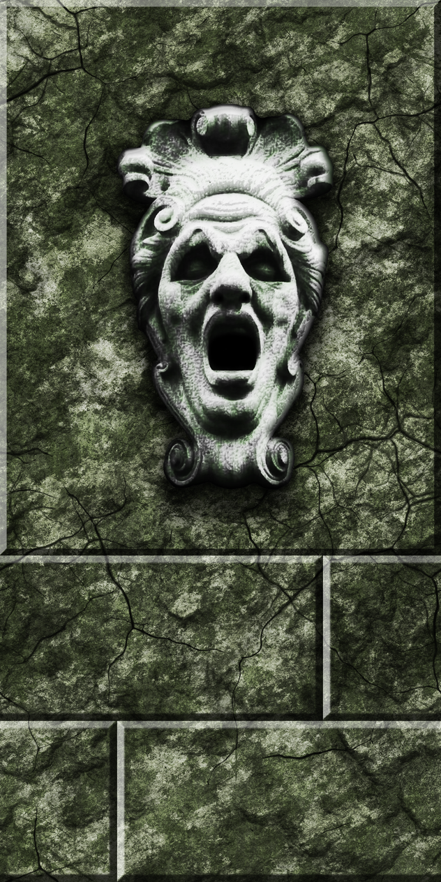 Green Stone with Face by Hoover1979