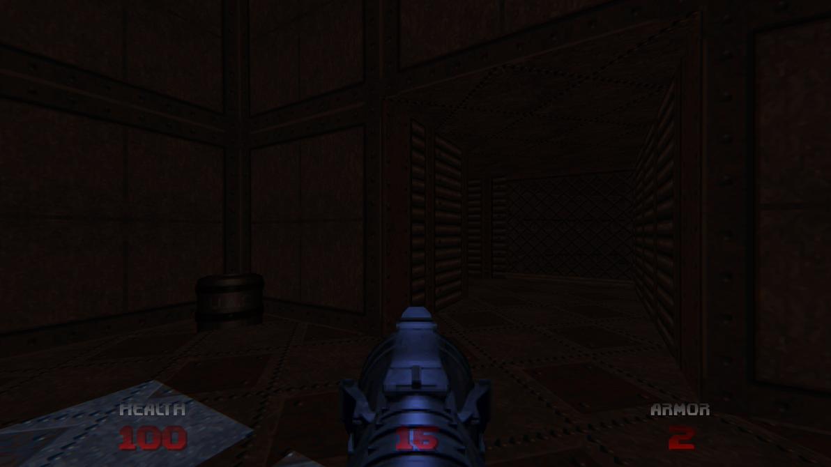 Sunken barrel glitch on Doom64 Retribution 01 by Hoover1979
