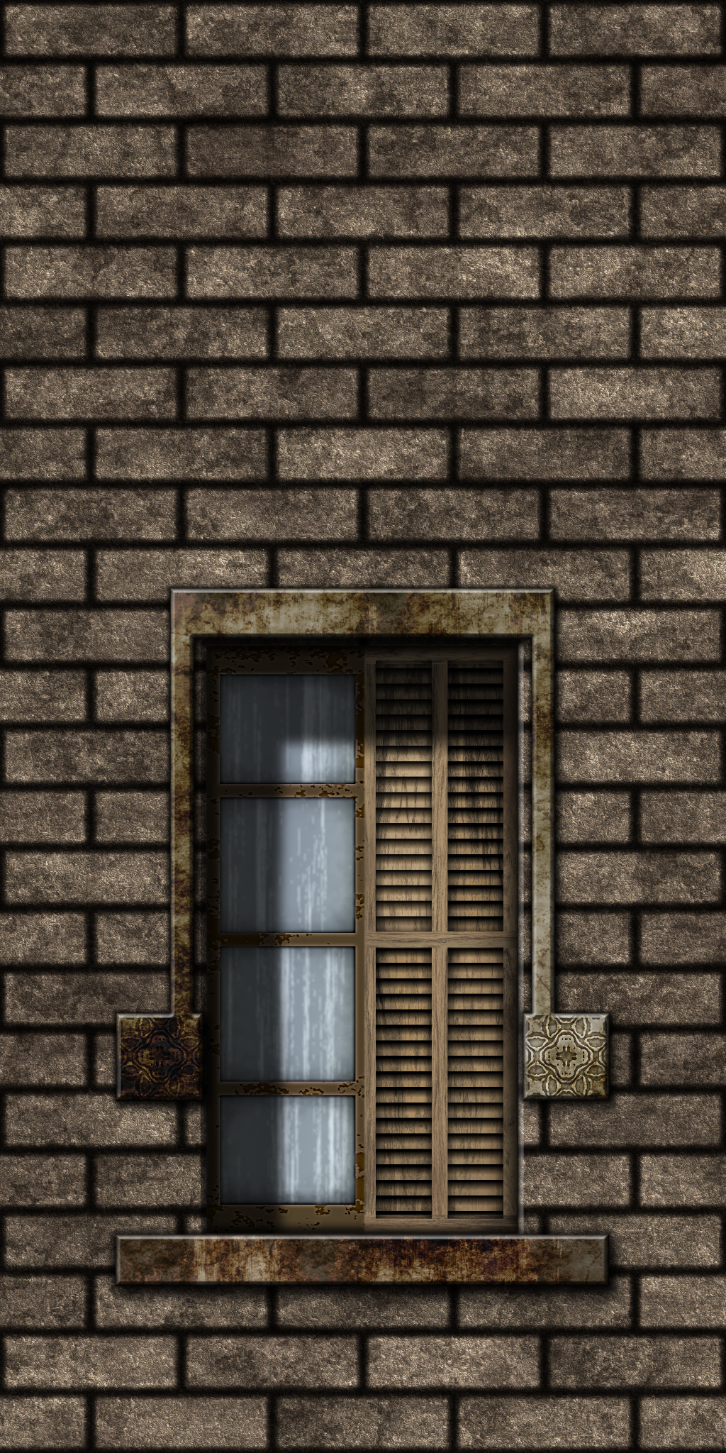 Small Brown Bricks w/Window by Hoover1979
