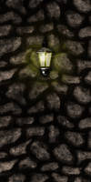 Cobble Stone Wall w/Light by Hoover1979
