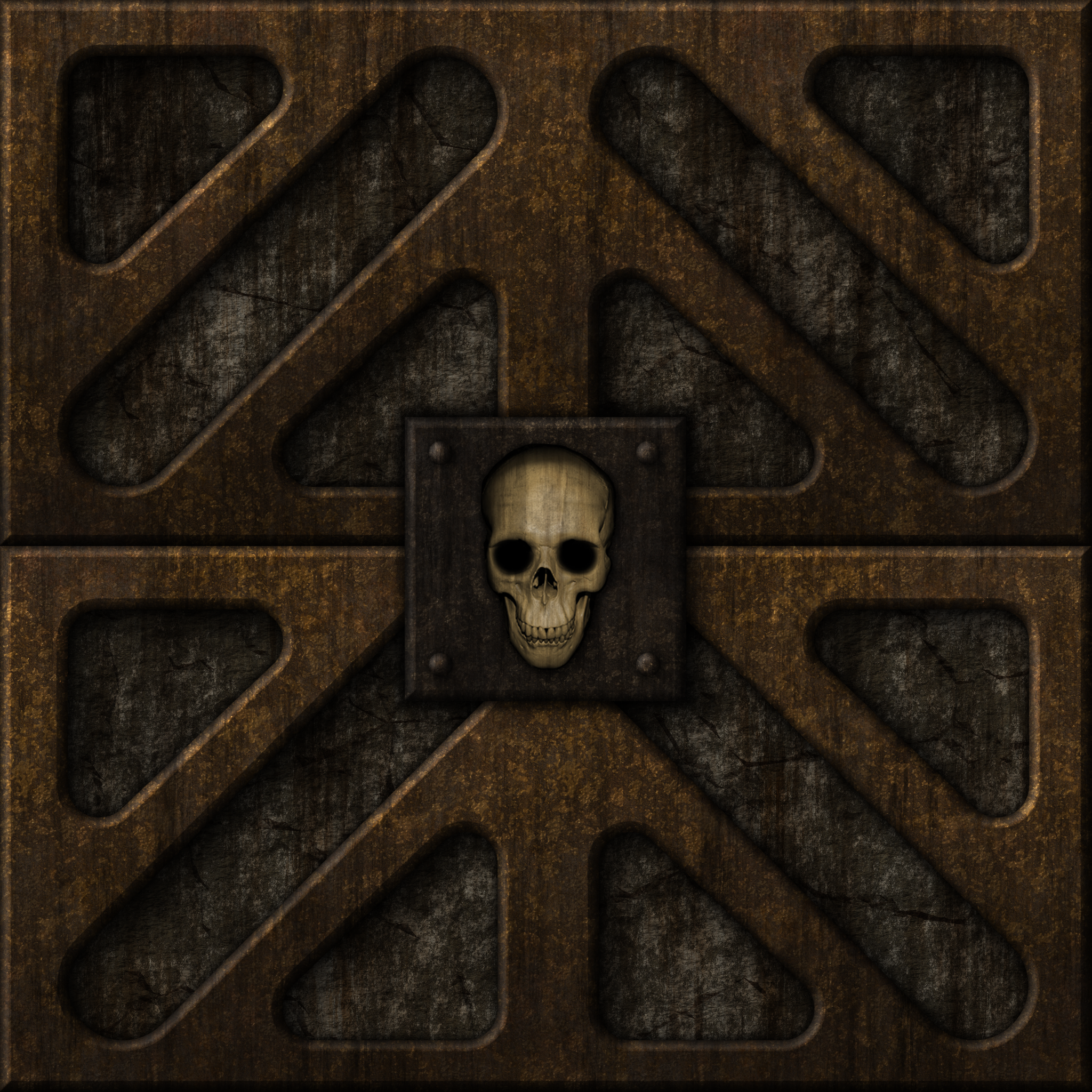 Stone/Rust Skull Door by Hoover1979