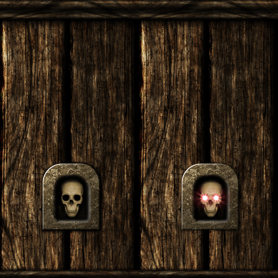 Wooden Wall with Skull Switch 01 by Hoover1979