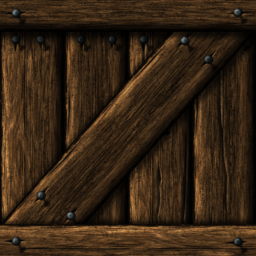 Wooden Crate 01 by Hoover1979