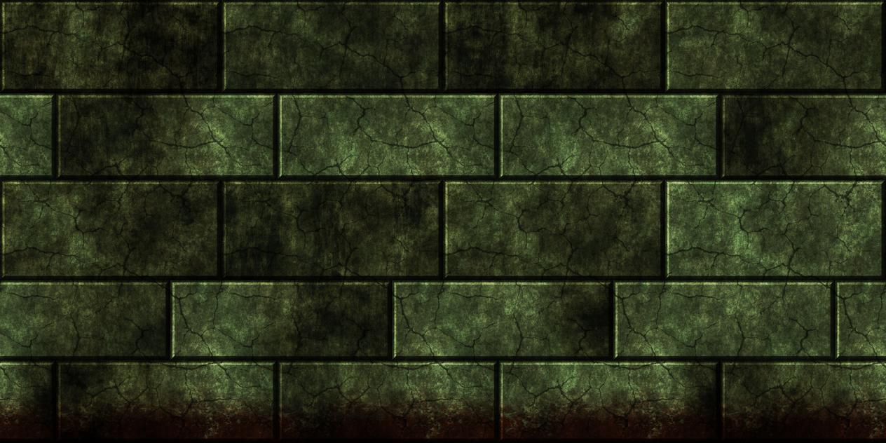 Green bricks w/blood (remake) by Hoover1979