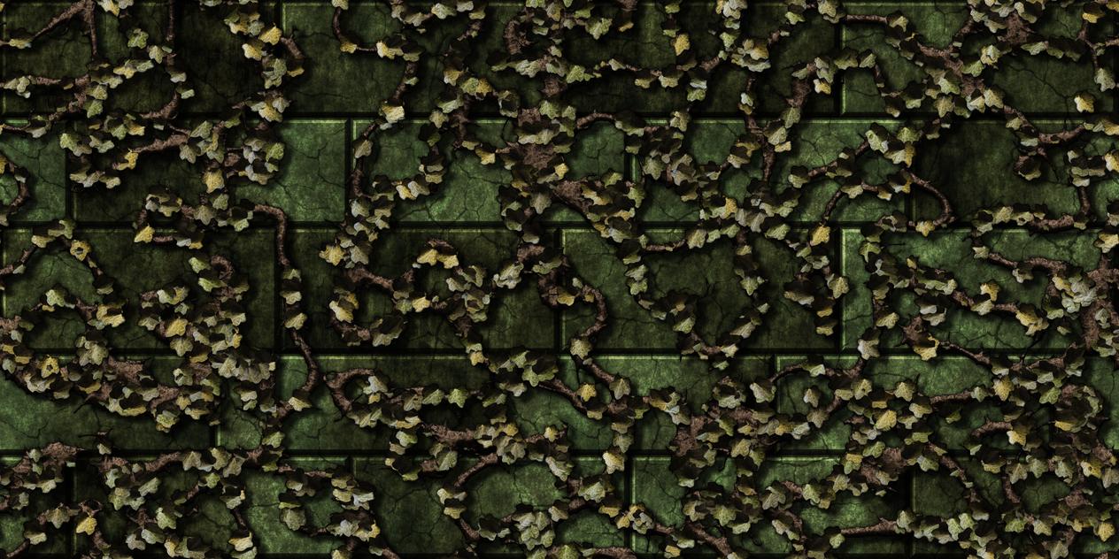 Green bricks w/vine 2 (remake) by Hoover1979