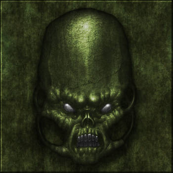 Green stone face 02 by Hoover1979