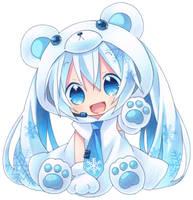 cute miku snow by sillychush