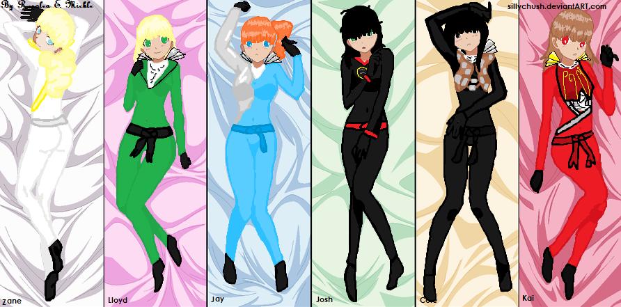 Agien with the ninjago mix gender by sillychush on deviantart - Ninjago kai jay zane cole lloyd ...