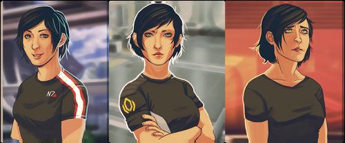 Shepard through the years by iichna