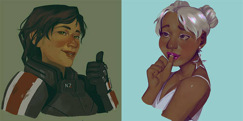 Portraits: Shepard and Ryder