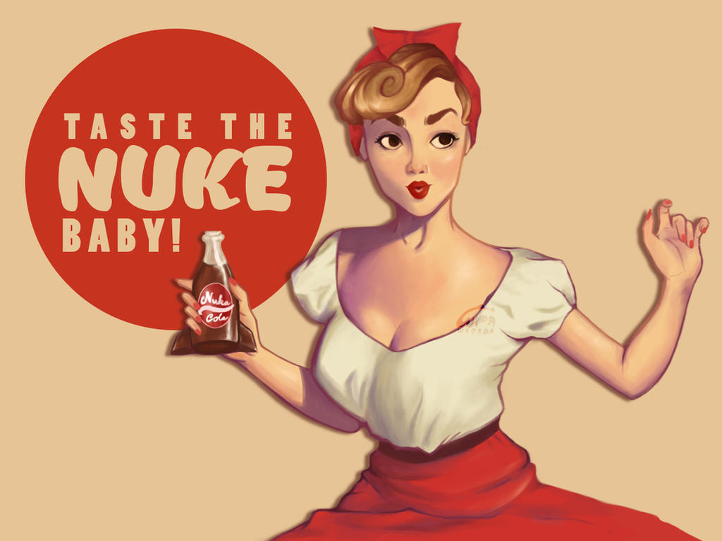 Nuka Cola Pin up by WePePe
