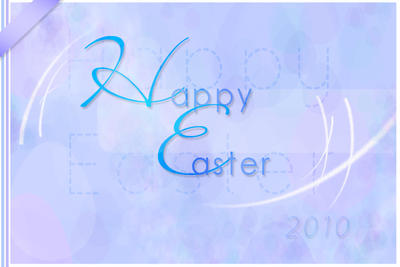 Happy Easter greeting card by AzureStrawberry