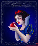 Snow White coloring book page