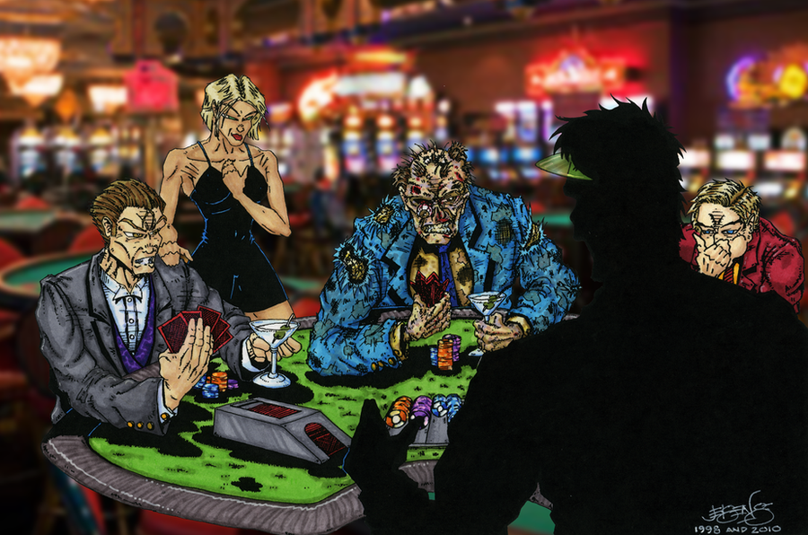 Zombie poker table by billyjebens on deviantart for Table zombies