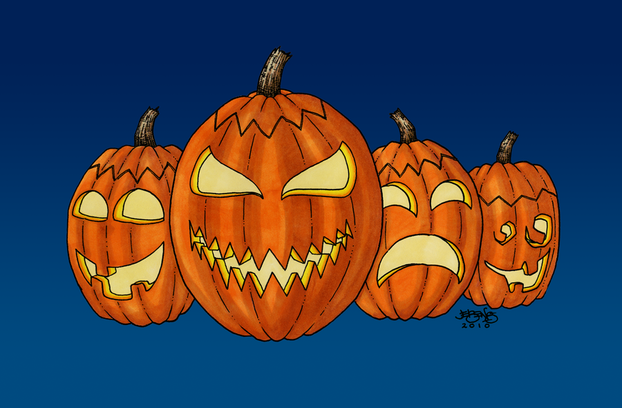 Halloween Countdown Day One, Pumpkins by BillyJebens