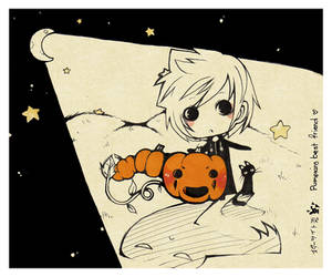 ++roku-tan and axel pumpkin by Starlight-Usagi