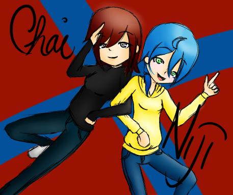 Niji and Chai by ChocoCakeLuva