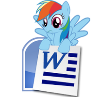 Rainbow Dash Microsoft Word icon by tauts05