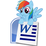 Rainbow Dash Microsoft Word icon