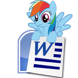Rainbow Dash Microsoft Word icon by tauts05 on DeviantArt Word Icon Transparent