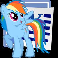 Rainbow Dash Microsoft Word icon 2 by tauts05