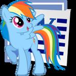 Rainbow Dash Microsoft Word icon 2