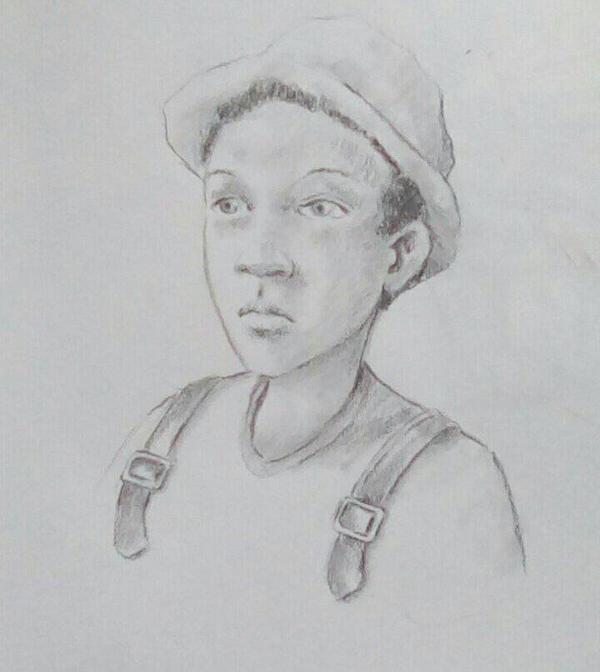 black boy sketched during mentalist..... by Sid9215