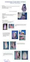 honekoneko plush body tutorial by sheffyne