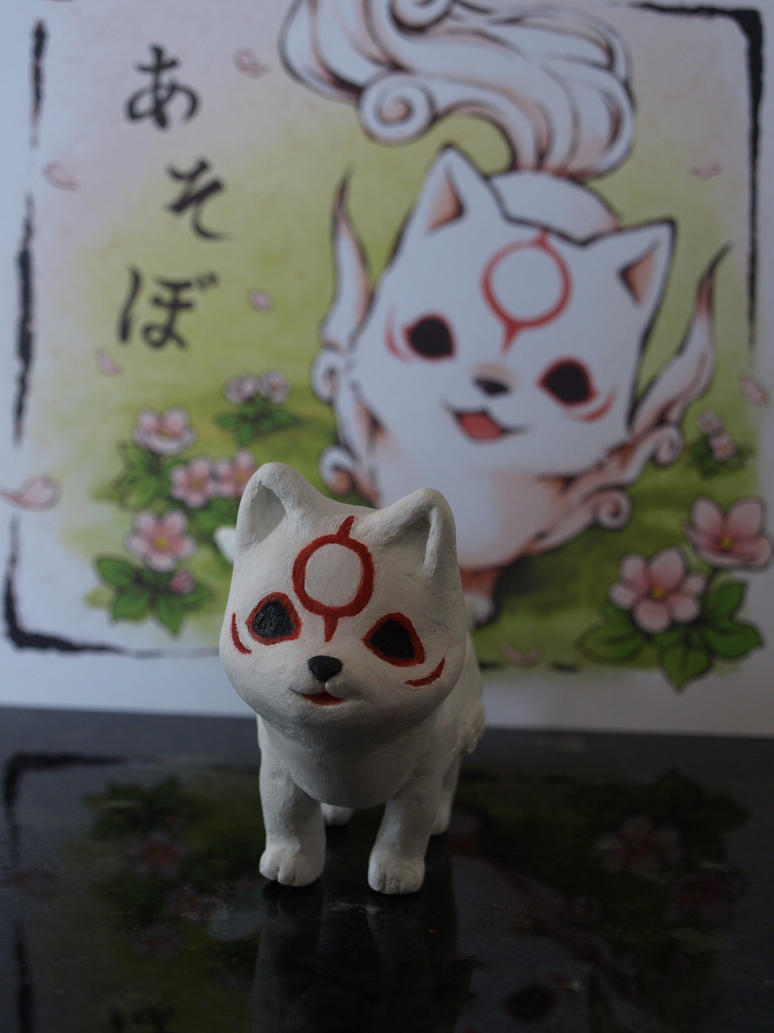 Chibiterasu sculpture by mikazuki-raito
