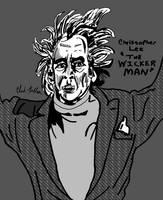 Christopher Lee- THE WICKER MAN by LeevanCleefIII